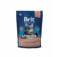 Brit Cat Sterilised Salmon для стерилизованных с лососем, курицей и куриной печенью