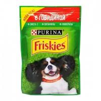 Friskies влажный корм для взрослых собак с говядиной в подливе 85гр.