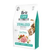 Brit Care Cat GF Sterilized Urinary Health для стерилизованных гипоаллергенный беззерновой. Профилактика МКБ.
