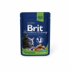 Brit Premium Sterilised пауч для стерилизованных кошек с курицей 100 г.