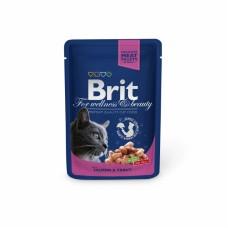 Brit Premium пауч для кошек с курицей и индейкой 100 г.