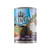 Консервы King Cat Liver для взрослых кошек с печенью 415г