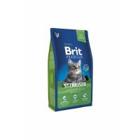 Brit Premium Cat Sterilised Chicken для стерилизованных с курицей в соусе из куриной печени