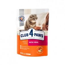Club 4 Paws для кошек с телятиной