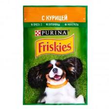 Friskies влажный корм для взрослых собак с курицей в подливе 85гр.