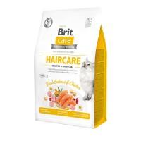 Brit Care Cat GF Haircare Healthy & Shiny Coat гипоаллергенный ,беззерновой корм для взрослых кошек Красивая кожа и шерсть.