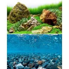 Фон Barbus для аквариума двусторонний высота 45см