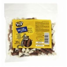 Lolo Pets кальциевая косточка с уткой для собак 100г