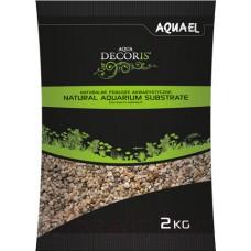 Грунт для аквариума Aquael Natural Multicolored Gravel от 1.4 до 2мм 2кг.