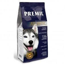 Premil Atlantic Super Premium - корм для взрослых собак при аллергии с тунцом и рисом