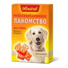 Amstrel мультивитаминное лакомство для собак Морская Форель 90 таб.