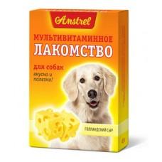 Amstrel мультивитаминное лакомство для собак Голландский Сыр 90 таб.
