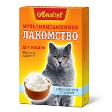 Amstrel мультивитаминное лакомство для котов Деревеский творог 90 таб.